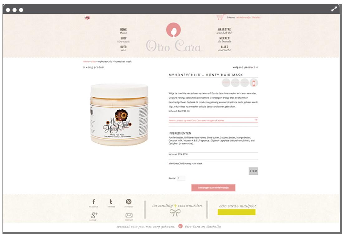 Otrocara productpage