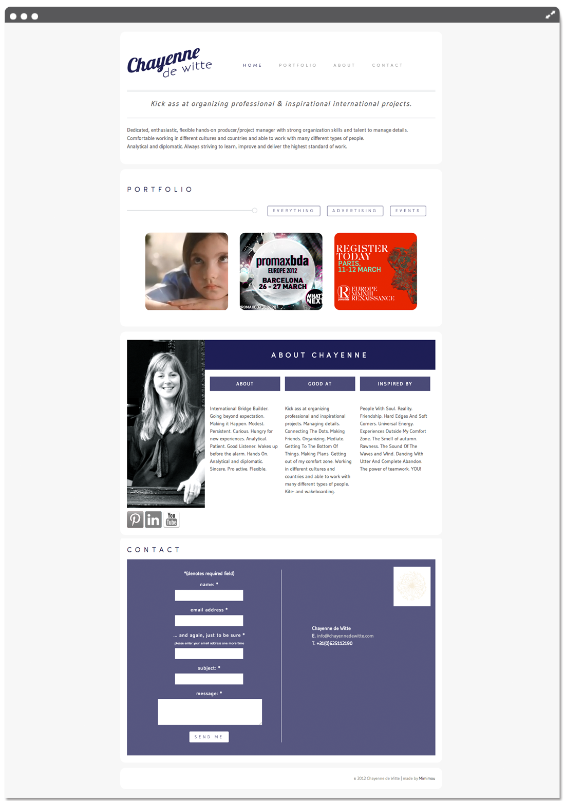 Website Chayenne de Witte home