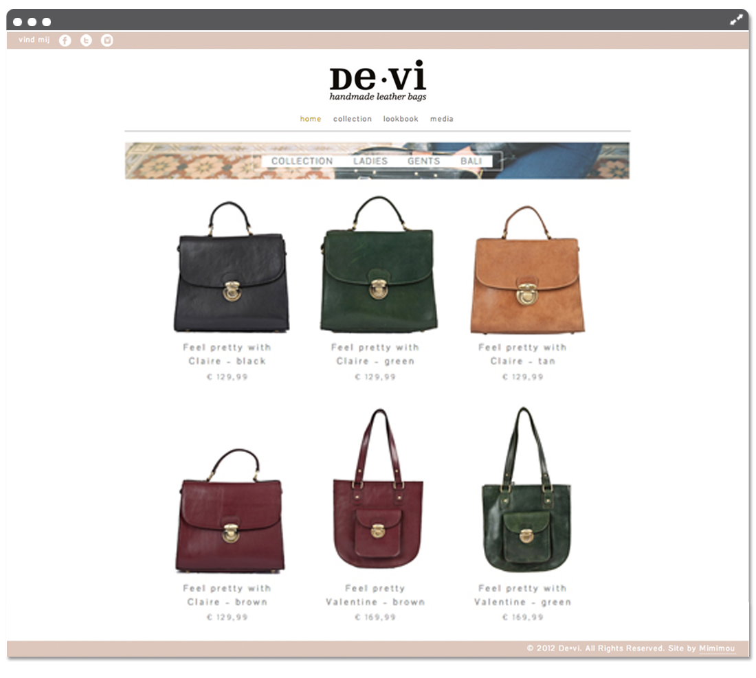 Website de•vi collection