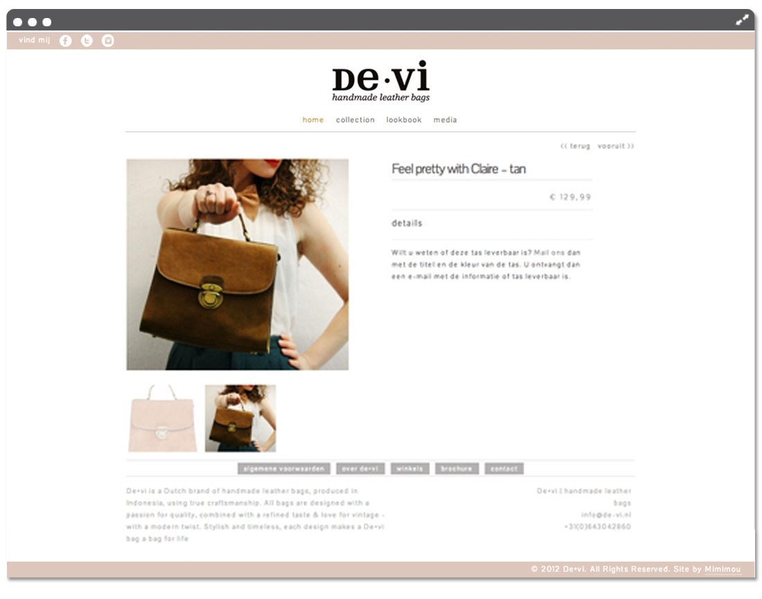 Website de•vi product page