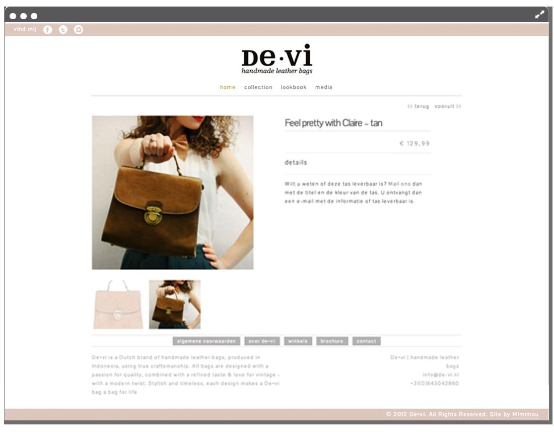 Website de•vi product page