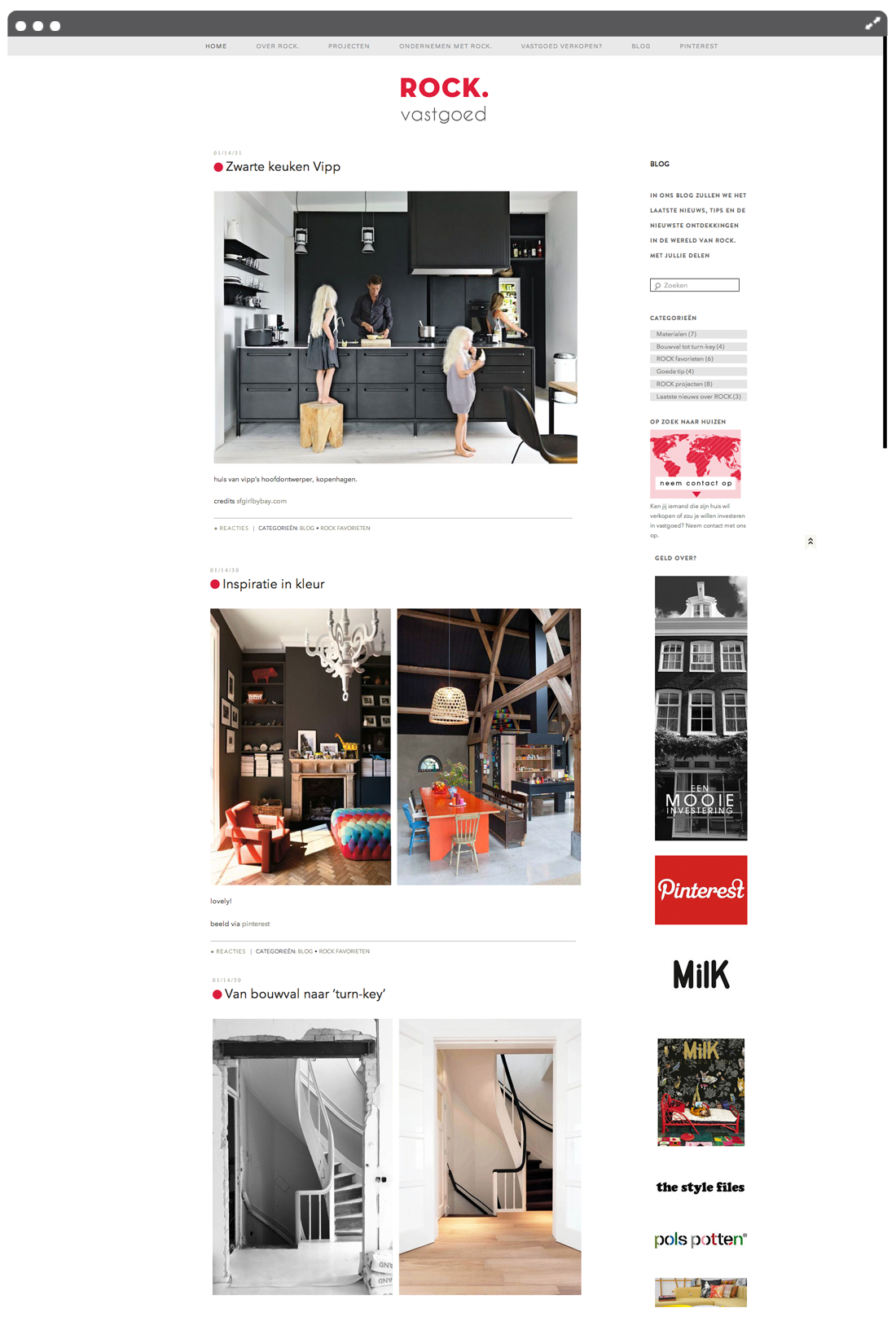 Website ROCK vastgoed blog