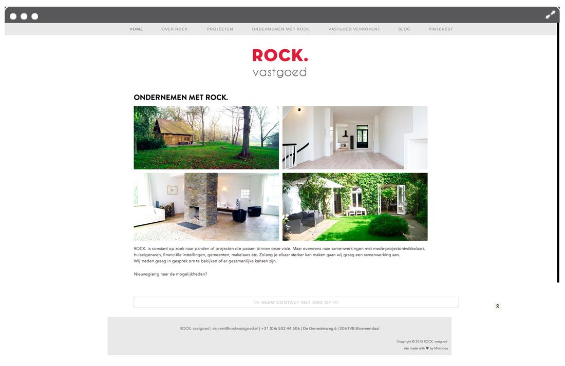 Website ROCK vastgoed page