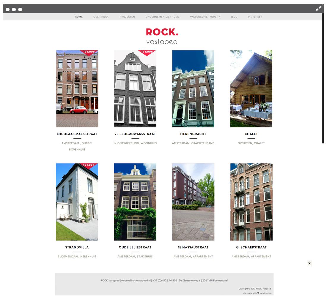 Website ROCK vastgoed projecten