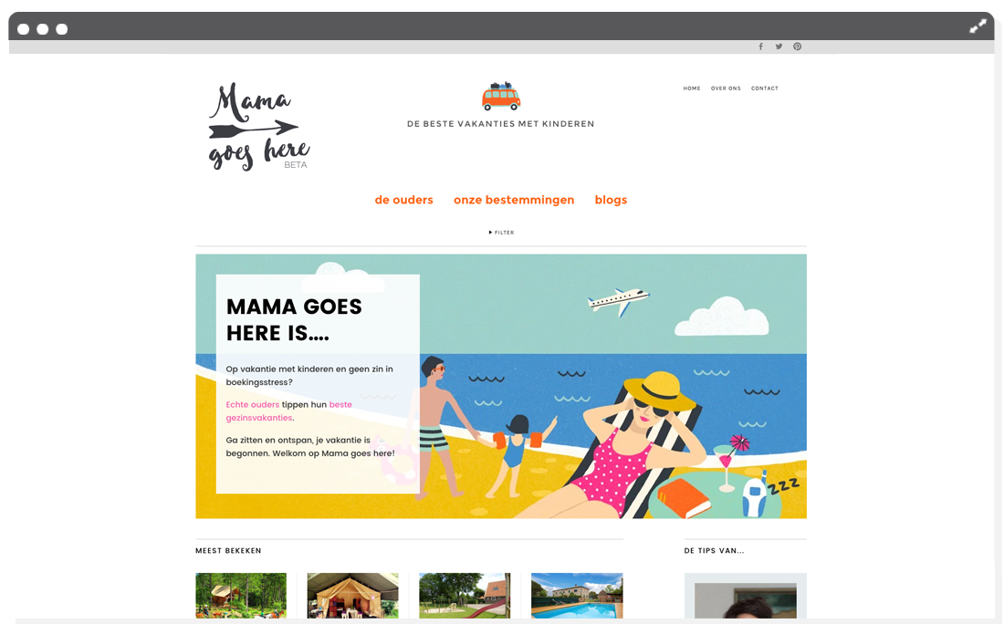 Website Mama goes here home | Mimimou